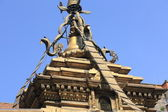 Gilded roof-Hiranya Varna Mahavihar temple-Patan. — Stock Photo