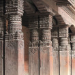Carved wood columns. Kathmandu. — Stock Photo #22591695