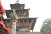 King Pratap Malla.s column and Degutaleju temple-Kathmandu. — Stock Photo