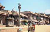 0209 Tachupal Tole Square from Bhimsen Mandir. Bhaktapur-Nepal. — Stock Photo