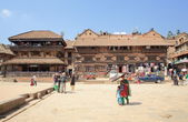 The Taumadhi Tole Square-Bhaktapur-Kathmandu Valley-Nepal. 0222 — Stock Photo
