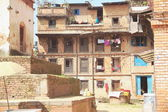Old houses between Tachupal Tole-Taumadhi Tole. Bhaktapur-Nepal. 0216 — Stock Photo