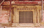 Latticed window in the Royal Palace. Bhaktapur-Nepal. 0242 — Stock Photo