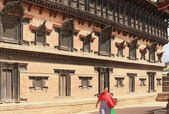 Royal-55 Window Palace-Bhaktapur-Nepal. 0237 — Stock Photo