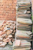 Building materials piled in a corner. Royal Palace-Bhaktapur-Nepal. 0252 — Stock Photo