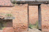Small door on the wall. Royal Palace-Bhaktapur-Nepal. 0254 — Stock Photo