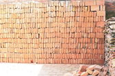 Red bricks piled on the floor. Royal Palace-Bhaktapur-Nepal. 0253 — Stock Photo