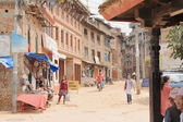 Street in the old town Bhaktapur-Nepal. 0277 — Stock Photo