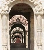 Votive shrines-Pandra Shivalaya complex-Pashupatinath temple-Deopatan-Kathmandu-Nepal. 0298 — Stock Photo
