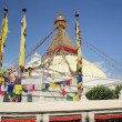 The big stupa of Boudhanath-Bodhnath. Kathamandu-Nepal. 0305 — Stock Photo