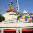Big white stupa of Boudhanath-Bodhnath. Kathmandu-Nepal. 0307 — Stock Photo