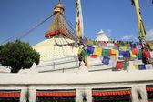 Big white stupa of Boudhanath-Bodhnath. Kathmandu-Nepal. 0307 — Stock Photo