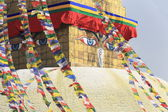 Eyes of the Buddha. Boudhanath-Bodhnath stupa. Kathmandu-Nepal. 0315 — Stock Photo