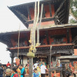 Stock Photo: Nepali faithfuls in ManakamanMandir-Nepal. 0347
