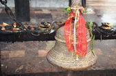 Bronze bell-Manakamana Mandir-Heartwishes temple. Nepal. 0329 — Stock Photo