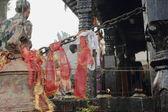 Red ribbons in Manakamana Mandir-Nepal. 0340 — Stock Photo