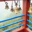Stock Photo: Small bronze bells. ManakamMandir-Nepal. 0336