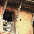 Stock Photo: Uninhabited house.s facade. Bandipur-Nepal. 0365