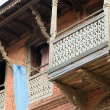 Old house with wooden balcony. Bandipur-Nepal. 0375 — Stock Photo
