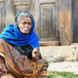 Stock Photo: Smoking old woman. Bandipur-Nepal. 0380