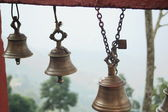 Small bronze bells. Manakamana-Nepal. 0338 — Stock Photo