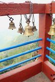 Small bronze bells. Manakama Mandir-Nepal. 0336 — Stock Photo