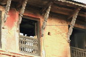 Uninhabited house.s facade. Bandipur-Nepal. 0365 — Stock Photo