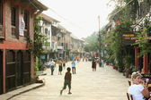 The central-unique street. Bandipur-Nepal. 0367 — Stock Photo