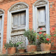 Stock Photo: Red brick facade newari house in Bandipur-Nepal. 0374