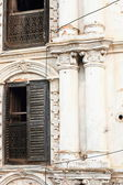 White facade of classical newari house. Bandipur-Nepal. 0394 — Stock Photo