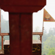Stock Photo: Metallic nepali flags. KalikMandir-Gorkha-Nepal. 0410