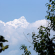 Stock Photo: Ganesh Himal Mountain Range-Ganesh I Peak seen from Bandipur-Nepal. 0407