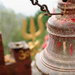 Stock Photo: Old bronze bell in GorkhDurbar-Nepal. 0409