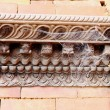Stock Photo: Cobweb on wooden frieze. GorkhDurbar-Nepal. 0420