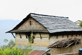 Slate roofed house in Dhampus-Nepal. 0528 — Stock Photo