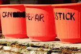 Plastic waste bins. Pitam Deurali-Nepal. 0551 — Stock Photo