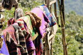 Woolen items for sale. Pitam Deurali-Nepal. 0553 — Stock Photo