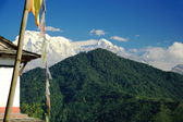 Mounts Annapurna South (L) and Hiun Chuli (R). Dhampus-Nepal. 0543 — Stock Photo