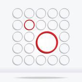 Círculo geométrico abstracto fondo — Vector de stock