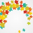 Royalty-Free Stock Vector Image: Autumn flying leaves with blank copy space