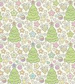 Divertente senza giunte sfondo vettoriale di colore di Natale — Vettoriale Stock
