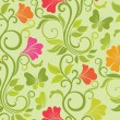 Floral vector seamless background — Stock Vector