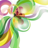 Abstrakt kärlek tema färgglada festliga bakgrund — Stockvektor