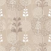 Dekorativní květina bezešvé pozadí v sépie — Stock vektor