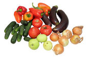 Set of vegetables on white background — Stock Photo
