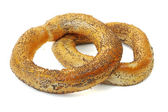 Bagels on a white background. — Stock Photo