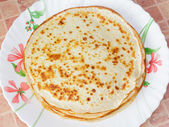 Pancakes on the plate. — Stock Photo
