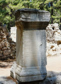 Antigas ruínas em phaselis, turquia. — Foto Stock