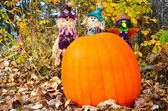 Pumpkin & Three Amigos — Stock Photo