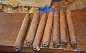 Freshly Rolled Cuban Cigars — Stock Photo